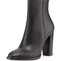 Overton Leather Bootie, Black