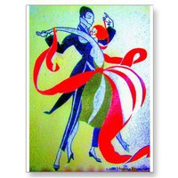 BALLROOM DANCING POST CARDS from Zazzle.com