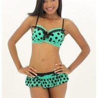 POLKA DOT BRA &amp; SKIRT SET