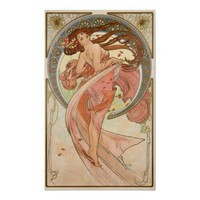 Alphonse Mucha, Dance Poster from Zazzle.com
