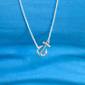 Anchors Away Necklace Silver