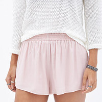 Smocked Crepe Woven Shorts
