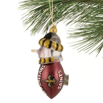 New Orleans Saints All-Star Light Up Snowman Ornament