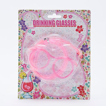 Straw Drinking Glasses - Urban Outfitters