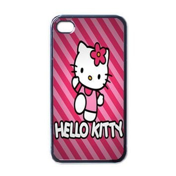 Apple iPhone Case - Hello Kitty Pink Mottle Cute - iPhone 4 Case Cover | Merchanstore - Accessories on ArtFire