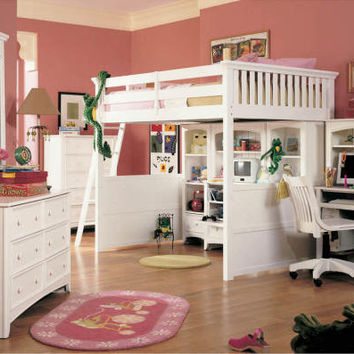 Dixie White Loft Bed