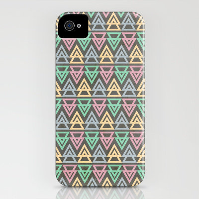 Triangulate 3 / Neon Midnight iPhone Case by Jillian Audrey | Society6