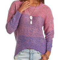OVERSIZED OMBRE HIGH-LOW SWEATER