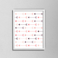 Tribal Arrow Poster. Minimalist Arrow Poster. Pink and Purple. Arrow Art. Arrow Decor. Bedroom Decor. Modern Home Decor. Tribal Art.
