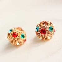 Colorful Crystal Ball Earings