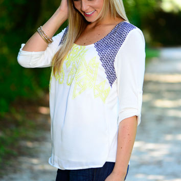 Double Trouble Blouse, White