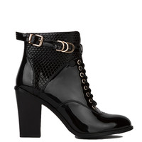 Yoyo Patent Bootie in Black
