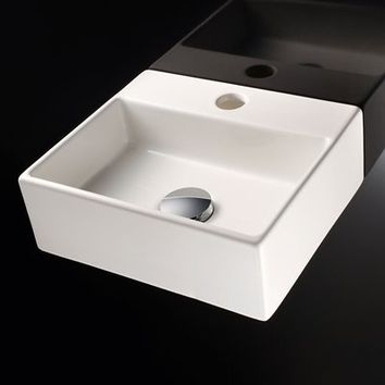 WS Bath Collections Quarelo 53706 Linea Vessel Sink Basin, Ceramic