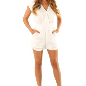 The First Cut Is The Deepest Romper: White
