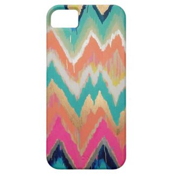 Watercolor Chevron Stripe Pattern iPhone 5 Case