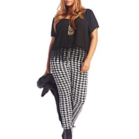 Houndstooth Legging | Wet Seal+