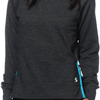 Soffe Side Zip Crew Neck Sweatshirt