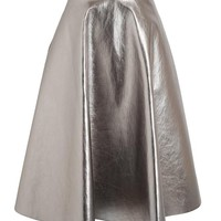 MSGM | Flared Metallic Skirt | Browns fashion & designer clothes & clothing