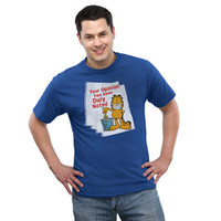 Garfield Duly Noted T-Shirt - Royal Blue,