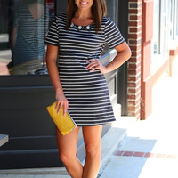 Charcoal + Stripes {Dress}