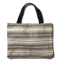 Black Tribal Band Print Tote