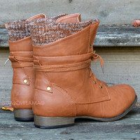 Pinedale Whiskey Lace Up Sweater Boots