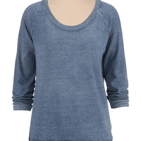 long sleeve burnwash sweatshirt