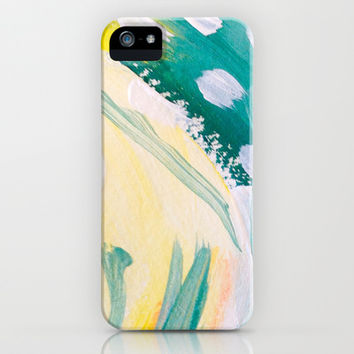 Evergreen / Abstract Painting 3 iPhone & iPod Case by Wildhumm | Society6