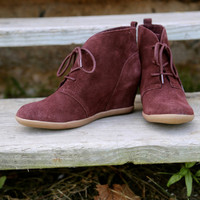 Minnetonka Lace Up 'Hidden Wedge' {CHOCOLATE}