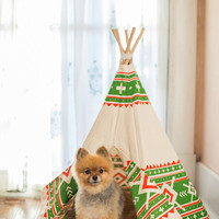 Awesome Pet Teepee small green/orange