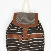 Cooperative Striped Canvas Backpack