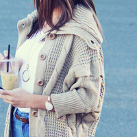 The Lone Wolf Sweater Coat