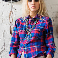 Lost Highway Flannel Shirt - Trucker Blue