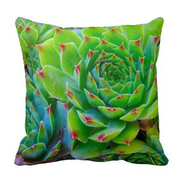 Green Plant Pillow