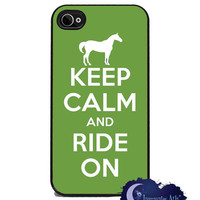 Keep Calm and Ride On - Horse iPhone Cover - Free US Shipping