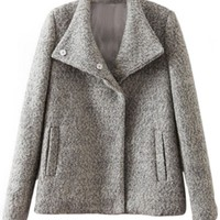Thermal Woolen Coat - OASAP.com
