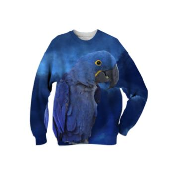 Hyacinth Macaw Sweatshirt created by ErikaKaisersot | Print All Over Me