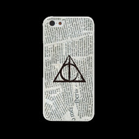 Deathly hallows harry potter case cover for htc and iPhone 5 5s 5c case - iPhone 4 4s case - HTC One M7 HTC One M8 2014 case (L15)