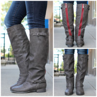 Buckle It Up Boot - Taupe