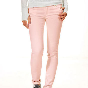 Olivia Low-Rise Jeggings in Washed Down Creole Pink