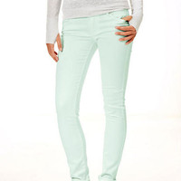 Olivia Low-Rise Jeggings in Washed Down Ice Mint
