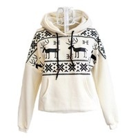 Winter Girls Womens Deer Hooded Hedging Tiny Sweater Coat 3 Colors New Arrival Super:Amazon:Clothing