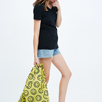 Baggu Smiley Face Shopper in Yellow - Urban Outfitters