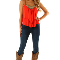 Some Kind Of Miracle Top: Burnt Orange