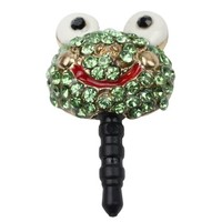 Earphone Jack Accessory 1pcs Of Bling Lively Big Glasses Green Frog / Dust Plug / Ear Jack For For Iphone 4 4S / Samsung / iPad / iPod Touch / Other 3.5mm Ear Jack:Amazon:Cell Phones & Accessories
