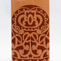 Tribal street A105 Wooden iPhone 4/4s iPhone 5/5s case walnut bamaboo wood iphone case