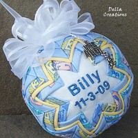 Personalized Baby Boy Quilted Ornam.. on Luulla