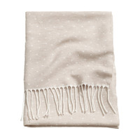 H&M - Dotted Baby Blanket - Natural white