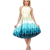 Multicolor Mod Ombre Dotted Swing Dress | Unique Vintage