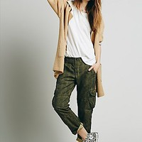 NSF Womens Tuxedo Washed Trouser - Oil Wash Khaki,